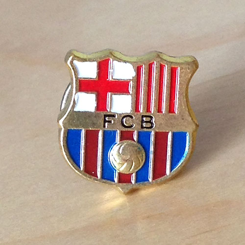barcelona fc pin badge значок барселона
