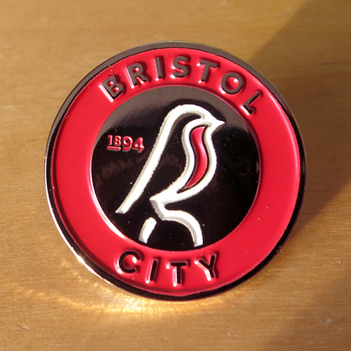 bristol city fc pin badge значок Бристоль Сити