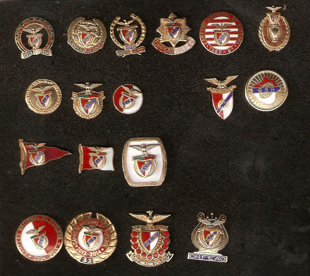 benfica pins collection